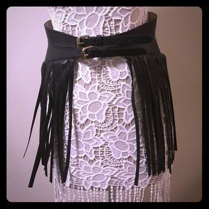Chic fringe belt from BCBG MaxAzria Boutique